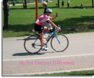Giseles first Century Bike Ride picd